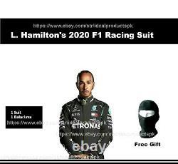 2020 L. Hamilton F1 Suit Karting Suit Patronas Mercedes Team Go Kart Race Suit