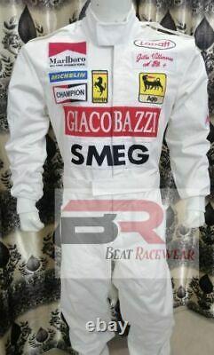 45Gilles Villeneuve 1970 SMEG replica embroidered patches go kart race suit