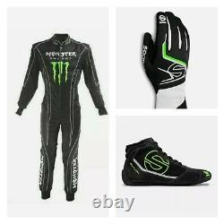 All in One Go Kart Racing Suit/Karting Suit, Shoes & Gloves