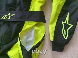 AlpineStars K-MX 9 Kart Race Suit Black Euro Size 52 CIK-FIA Level 2