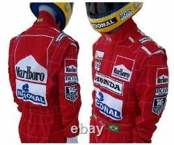 Ayrton Senna 1991 Replica racing suit / Mc Larne F1 customize embroidered
