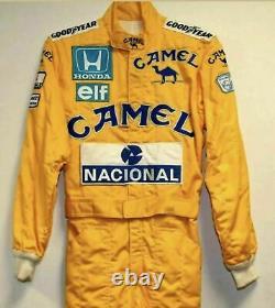 Ayrton Senna CAMEL Sublimation Suit Go Kart-Karting Race-Racing suit