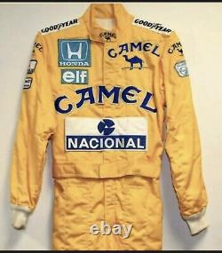 Ayrton Senna Camel embroidery patches go kart racing suit