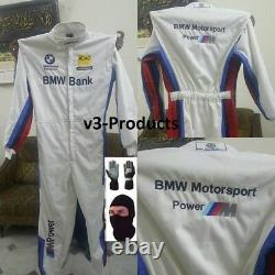 BMW Kart Race Suit CIK FIA Level 2 Approved with free gift Gloves & Balaclava