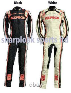 CRG (BLACK OR WHITE) Go Kart Race Suit free balaclava
