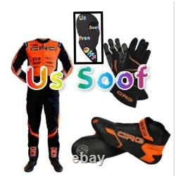 CRG Go Kart Race Suit CIK FIA Level-2 Approved With Shoes Gloves And Balaclava