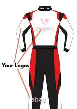 CUSTOMIZED Sublimation Printed Go Kart Race Suit CIK FIA Level 2