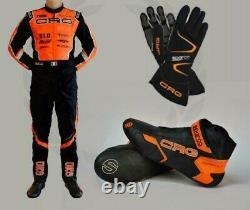 Crg Go Kart Race Suit Cik/fia Level 2 Approved With Shoes & Gloves