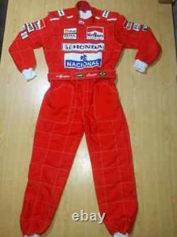 F1 Ayrton Senna 1991 Sublimation Printed go kart race suit, In All Sizes