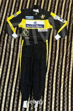 F1 Ayrton senna 1986 embroidery patches suit/ Go Kart/Karting Race/Racing suit