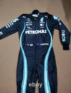 F1 L. Hamilton 2020 Style Printed Race Suit Go Kart/Karting Race/Racing Suit