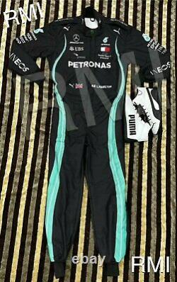 F1 L. Hamilton printed suit with shoes / Go Kart/Karting Race/Racing Suit