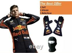 F1 MAX 2019 style Printed Suit With Free Gift Gloves/Balaclava Kart Racing Suit