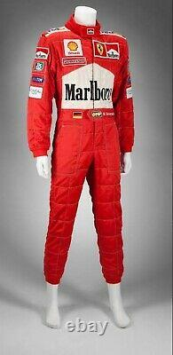 F1 Michael Schumacher 2001 Embroidered Patches suit Go Kart/karting Race Suit