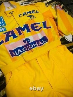 F1 Racing Ayrton Senna CAMEL Printed Suit, Go Kart/Karting Race/Racing Suit