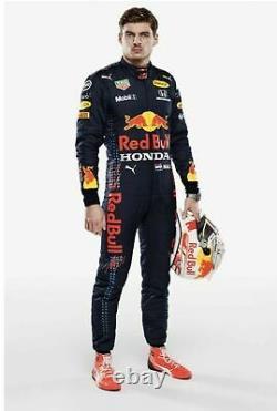 F1 Racing MAX 2021 Style RedBull Printed Suit Go Kart/Karting Race/Racing Suit