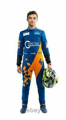 F1 Team McLaren 2019 sparco Printed go kart race suit, In All Sizes