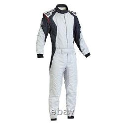 FIA OMP FIRST EVO Race Suit Silver rally overall moto 8856 2000 STOCK