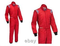 FIA Sparco Sprint RS-2 Race Suit, Size 52, Red, 2 Layer Racing Rally STOCK 21