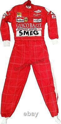 Gilles Villeneuve SMEG Red Printed go kart race suits, in all Sizes