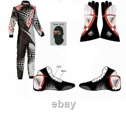 Go Kart Karting Race Suite Cik/fia Level-2 With Gloves Shoes And Balaclava