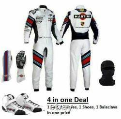 Go Kart Martini Race Suit CIK FIA Level 2 Approved with Karting Shoes & Gloves