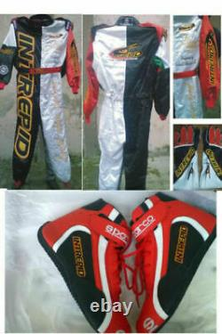 Interpid Go Kart Race Suit Cik/fia Level 2 Approved With Matching Shoes & Gloves