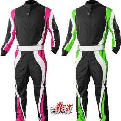 K1 Speed1 Pro Karting Suit Pink & Green Girls & Boys to Adult Kart Racing