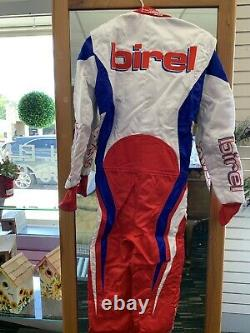 Kart racing Birel 42 suit White/Blue/red Made in Italy sized international