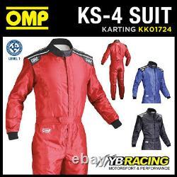 Kk01724 Omp Ks-4 Ks4 Karting Race Suit Kart Ideal For Entry Level Beginner Cadet
