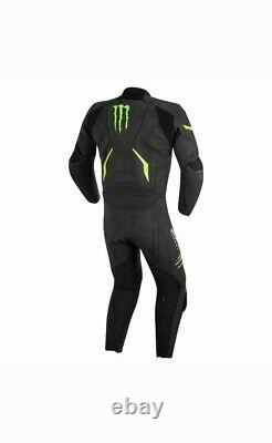 Monster Energy Warg Motorbike 1 piece Leather Racing Suit All Sizes