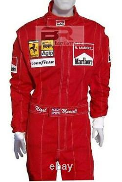 Nigel Mansell 1991 Embroidered Patches go kart racing suit In All Sizes