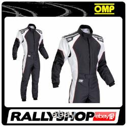 OMP KS-3 Suit Black White Size 60 Kart Racing Sport Overall CIK 3 Layers STOCK
