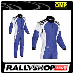 OMP KS-3 Suit Blue White Size 58 Karting Racing Sport Overall CIK 3 Layers STOCK