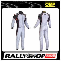 OMP KS-3 Suit Grey Black Red Size 58 Go Kart Karting Racing Overall CIK STOCK