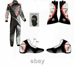 Omp Go Kart Race Suit Cik/fia Level 2 Approved With Free Gifts Included