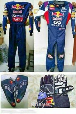 Red Bull Go Kart Race Suit Cik/fia Level 2 Approved With Shoes & Gloves