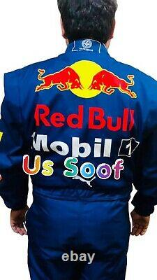 Red Bull Go Kart Race Suite CIK FIA Level 2 Approved With Free Gloves Shoes Gift