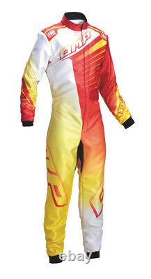 Sale! Kk01720 Omp Ks-1r Ks1r Karting Kart Race Suit Top Of The Range Kart Suit