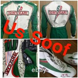 Tony/KART GO KART RACE SUITE CIK/FIA-LEVEL-2 APPROVED WITH SHOES GLOVES AND GIFT