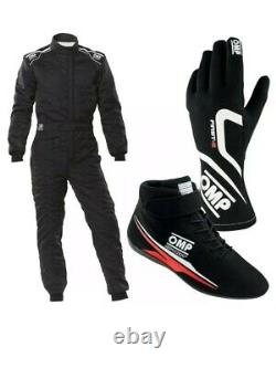 2 Sets Go Kart Race Suit Cik/fia Niveau 2 Agréés Avec Chaussures Et Gloves De Traitement