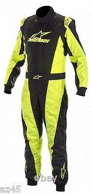 Alpinestars Go Kart Racing Suit K-mx5 Nrg Ltd Edition Blk/yel Taille 46