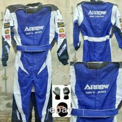 Arrow Go Kart Race Suit Cik/fia Niveau 2 Approuvé Avec Des Cadeaux Gratuits