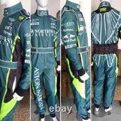 Aston Martin Go Kart Race Suit Cik/fia Niveau 2 Approuvé Avec Des Cadeaux Gratuits Inclus