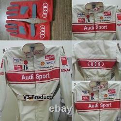 Audi Kart Racing Suit Cik-fia Niveau 2 + Cadeau Gratuit De Gants&balaclava