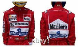 Ayrton Senna 1991 Replica Costume De Course / MC Larne F1 Personnalisé Brodé