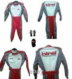 Birel Go Kart Race Suit Cik/fia Niveau 2 Approuvé Avec Des Cadeaux Gratuits Inclus