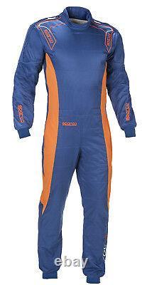 Cik-fia Sparco Ergo-7 Kart Race Suit Blue, Grey, Black Overall Cheap Sale Stock