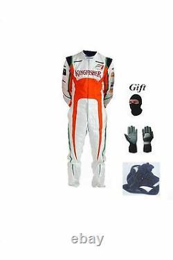 Combinaison De Course De Kart Force India Kit Cik/fia Niveau 2 2013 Style (cadeaux Gratuits)