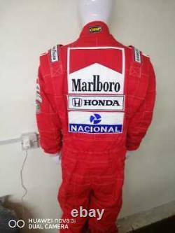Costume De Course De Kart Brodé Arton Senna Fait Pour Mesurer Le Costume De Karting De Niveau 2